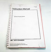 Edwards A532-40-880 Issue K iQ Dry Pumping System Instruction Manual