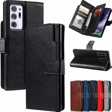 For Samsung A21s A51 A71 S20 Note 20 Ultra Wallet Card Slot Leather Case Cover