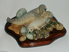 More details for sherratt and simpson, seal  and pup  on  beach, 1989. old, original. made in uk