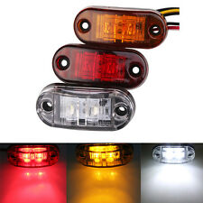Amber White Red 2LED Side Marker Blinker Light Indicators For Truck Trailer Car