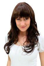 Perruque pour Femme Marron Brun Ondulés Cheveux Volumineux avec Frange 3222-6