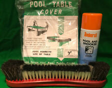 POOL TABLE BRUSH/CLOTH CLEANER/TABLE COVER (7x4) BUNDLE