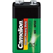 Pile Zinc Carbone Verte Camélion :9V 6F22  2 blisters achetés = 1 offert !!