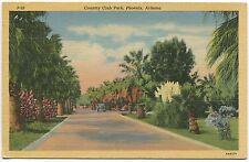 PHOENIX AZ VINTAGE LINEN POSTCARD Country Club Park