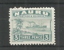 NAURU 1947 GEORGE 6TH 3d GREENISH GREY SG,31b M/MINT LOT 88B