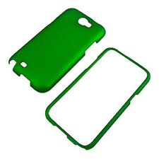 For Samsung Galaxy Note II 2 Rubberized HARD Protector Case Phone Cover GREEN