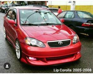 for toyota corolla 2005-2008 front lip fiberglass rare