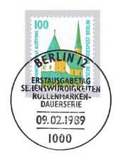 Berlin 1989: Wallfahrtskapelle Altötting Nr. 834 mit  Ersttags-Sonderstempel! 1A