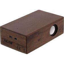 InLine Induktion Lautsprecher Woodbrick Walnussholz-Gehäuse Holz Speaker