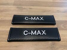 2X Seat Belt Pads Carbone Cadeau FORD C-Max TDCi Titane CMAX EcoBoost C MAX ZETEC