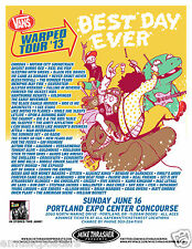 WARPED TOUR 2013 PORTLAND CONCERT TOUR POSTER - AUGUST BURNS RED / REEL BIG FISH