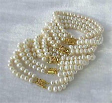 """Cultured Pearl Bracelet 7.5"""" As+Sq+A+S New Wholesale 5Pc 7-8mm White Akoya"""