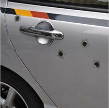 1x32 Bullethole Orifice Sticker Graphic Decal For Car Helmet Windows Gray