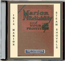 1914 Marion Steam Shovel Catalog #93 CD-Mdls21,28,31&36