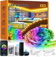 Smart LED Strip Lights,32.8ft RGB LED Lights with App Control, 16 Million Colors