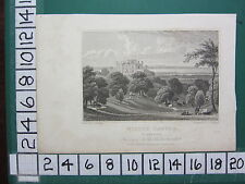 1829 DATED ANTIQUE YORKSHIRE PRINT ~ WILTON CASTLE ~ SEAT OF SIR JOHN LOWTHER