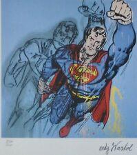 ANDY WARHOL SUPERMAN SIGNED HAND NUMBERED LITHOGRAPH MATTED