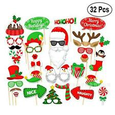 Christmas Photo Booth Props Xmas Party Beard Selfie Arrow Instagram Santa Claus