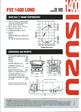 ISUZU FVZ 1400 LONG SPECIFICATIONS BROCHURE 1/95