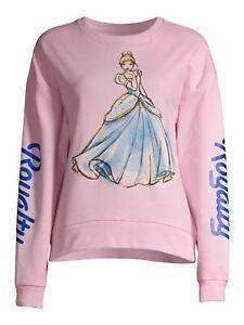 License Juniors' Cinderella Sweatshirt Pink XL