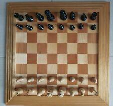 Schach Schachbrett Schachspiel Echtholz poliert 48 x 48 cm