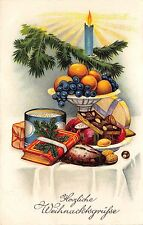 BG8416 candle festive table  fir branch  weihnachten christmas greetings germany
