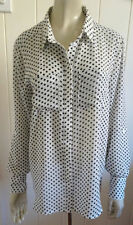 Career Polka Dot Long Sleeve Button Down Shirt Tops & Blouses for Women