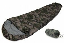SLEEPING BAG MUMMY 8' DIGITAL CAMOUFLAGE Army Cammo 20+ Degrees F  Case NEW