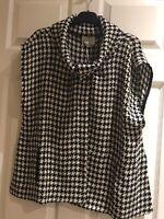 MASAI clothing Company Dogtooth Check Black/white JONE jacket/gilet Size L