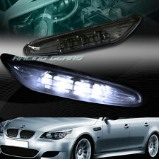 SMOKE LENS LED SIDE MARKER TURN SIGNAL LIGHTS FIT 03-09 BMW E60 5-SERIES 4-DR
