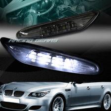 SMOKE LENS LED SIDE MARKER TURN SIGNAL LIGHTS FIT 03-09 BMW E60 5-SERIES 4-DR