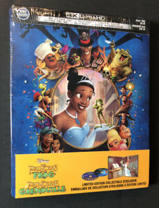 the Princess and the Frog [ Limited Edition STEELBOOK ] (4K Ultra HD) NEW