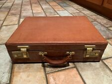 Schlesinger Brothers Leather Locking Briefcase