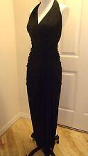 NEW NWOT Tadashi Halter Top Evening Gown Dress Sz Womens XS Black