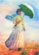 3D Lenticular Postcards - Woman with a Parasol facing right, Claude Monet