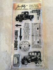 Rubber Cling Stamps by Tim Holtz Stampers The Journey Hc010 New