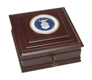 Allied Frame U.S. Air Force Medallion Executive Desktop Box *100% MADE IN U.S.A*