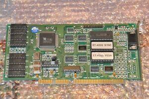 ISA Grafikkarte Tseng ET4000AX - 1MB RAM - VGA out - top für DOS, 486 gaming