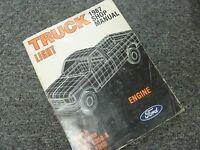 1987 Ford Bronco E150 E250 E350 Econoline Van Engine Shop Service Repair Manual