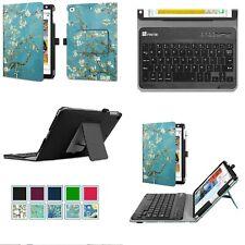 For iPad Mini 5 4 3 2 1 PU Leather Folio Case Cover Stand + Bluetooth Keyboard