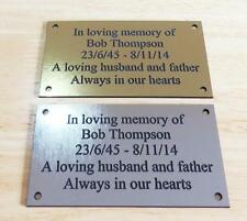 Personalised Engraved Memorial or Celebration Plaque Various Sizes.