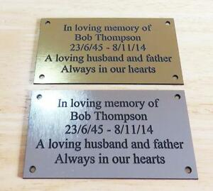 Brass/silver Personalised Engraved Memorial Celebration Plaque Various Sizes.