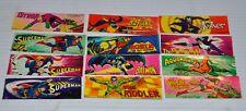 set of 12 DC COMICS vintage STICKERS 1979 Vending Machine Prize- Superman/Batman