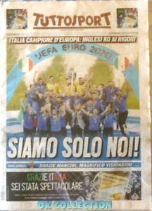 ITALY CHAMPION EUROPE Italian Sport Newspaper TUTTOSPORT 12-07-2021