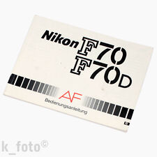 Nikon f70 f70d manual de instrucciones * Manual