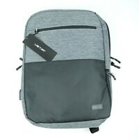 USTAR Slim Business Water Resistant Laptop Backpack with USB Charging Port