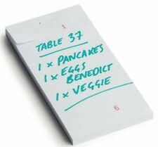 More details for single sheet restaurant waiter pub food order pad numbered check pad 6.5