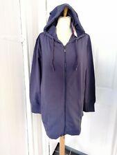 Ladies Sheego Blue Longline Hoodie Zip Jacket Plus Size 18/20 NWT Cotton