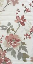 ENVOGUE Watercolor Floral Shower Curtain-Reddish Brown,Blush Pink,Gray,Silver