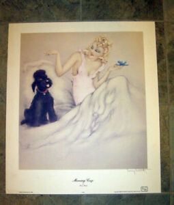 "Quality Louis Icart ""Morning Cup"" (Copyright 1940; reprinted 1988) New Old Stock"